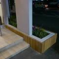 ファサードと花壇